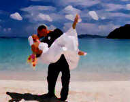 Virgin Island wedding painting